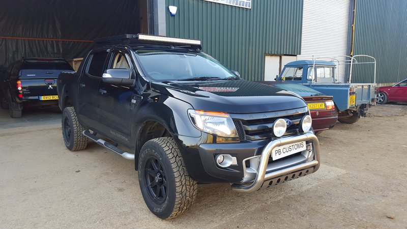 Ford ranger 32 wildtrack customisation project pb customs the following were added and modified the suspension wheels rims sound deadening a bar fit light bars and underbody lighting underbody coating mozeypictures Gallery